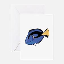 Single Blue Tang Greeting Card
