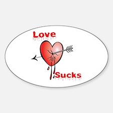 Love Sucks Oval Decal