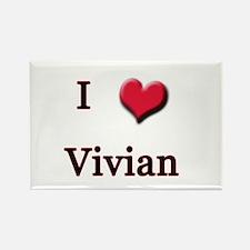 I Love (Heart) Vivian Rectangle Magnet