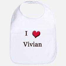 I Love (Heart) Vivian Bib