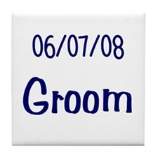 June 7th 2008 Groom Tile Coaster