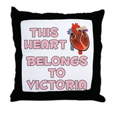 This Heart: Victoria (C) Throw Pillow