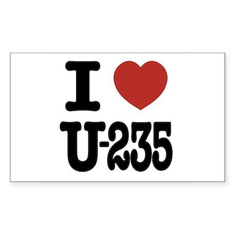 I Love U-235 Rectangle Sticker
