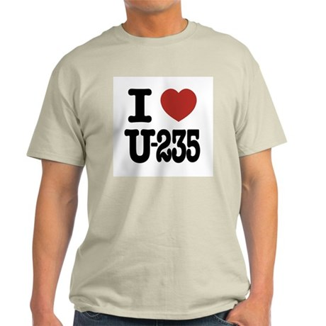 I Love U-235 Light T-Shirt