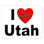 I Love Utah for Utah Lovers Small Poster