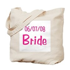 Bride and Groom Abstract Design Tote Bag