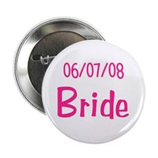 Bride and Groom Abstract Design Button