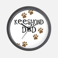 Keeshond Dad Wall Clock