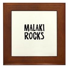 Malaki Rocks Framed Tile