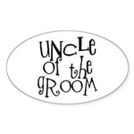 Uncle of the Groom Graffiti Oval Sticker