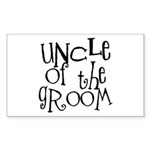 Uncle of the Groom Graffiti Rectangle Sticker