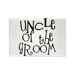 Uncle of the Groom Graffiti Rectangle Magnet (10 p