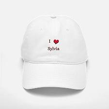 I Love (Heart) Sylvia Baseball Baseball Cap