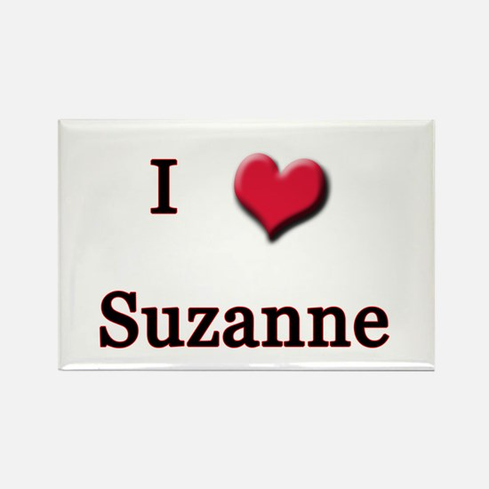 I Love (Heart) Suzanne Rectangle Magnet