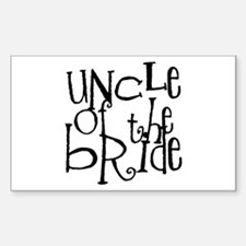Uncle of the Bride Graffiti Rectangle Decal