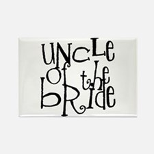 Uncle of the Bride Graffiti Rectangle Magnet