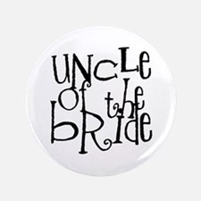 "Uncle of the Bride Graffiti 3.5"" Button"