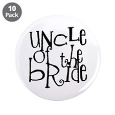 """Uncle of the Bride Graffiti 3.5"""" Button (10 pack)"""