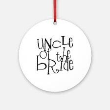 Uncle of the Bride Graffiti Ornament (Round)