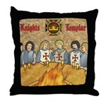 Tales From the Knights Templar Throw Pillow