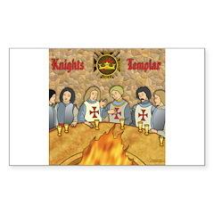 Tales From the Knights Templar Sticker (Rectangula