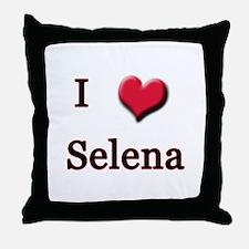I Love (Heart) Selena Throw Pillow