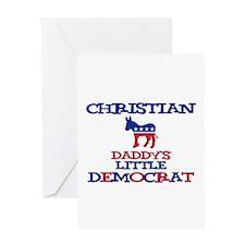 Christian - Daddy's Little De Greeting Card