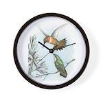 Rufous Hummingbirds Wall Clock