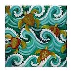 Baby Sea Turtles Tile Coaster