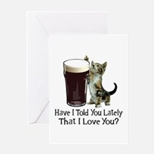 For The Love Of Beer Greeting Card
