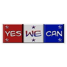 Obama Yes We Can Bumper Bumper Sticker