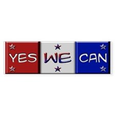 Obama Yes We Can Bumper Car Sticker