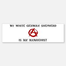 White German Shepherd anarchi Bumper Bumper Bumper Sticker