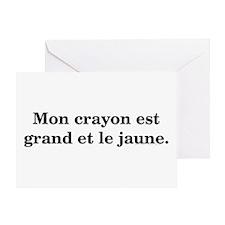 Mon Crayon Est Grand Et Le Ja Greeting Card