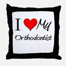 I Heart My Orthodontist Throw Pillow