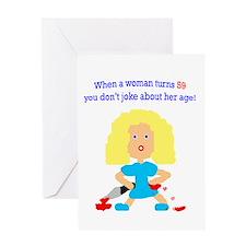 59 age humor Greeting Card