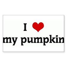 I Love my pumpkin Rectangle Decal