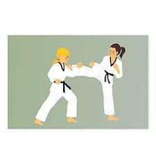 Cute Taekwondo kick like a girl Postcards (Package of 8)