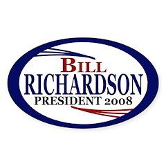 Richardson '08 (oval bumper sticker)