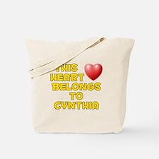 This Heart: Cynthia (D) Tote Bag