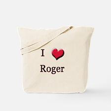 I Love (Heart) Roger Tote Bag