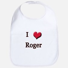 I Love (Heart) Roger Bib