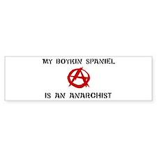 Boykin Spaniel anarchist Bumper Bumper Sticker