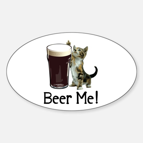 Beer Me! Oval Decal