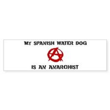Spanish Water Dog anarchist Bumper Bumper Sticker