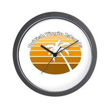 British Virgin Islands Wall Clock