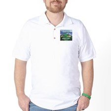 """Golfer Playing Scientist Today"" T-Shirt"