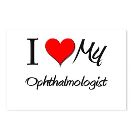 I Heart My Ophthalmologist Postcards (Package of 8
