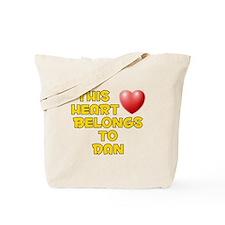 This Heart: Dan (D) Tote Bag