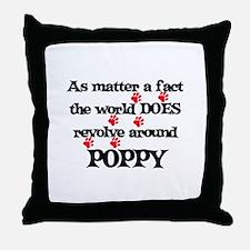The World Revolves Around Pop Throw Pillow